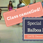 Class Cancelled Special balboa lessons